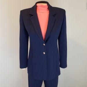 St. John Collection Santana Knit Navy pant suit 6